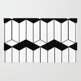 L shaped 3d block art Rug