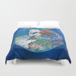 Sensual Art Deco Pearl Mermaid Duvet Cover