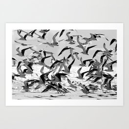 Safety in numbers Art Print