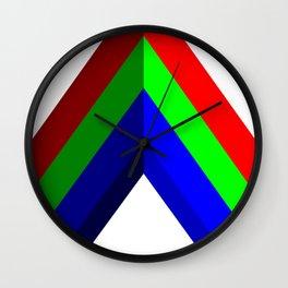 RGB Vector Shape Wall Clock
