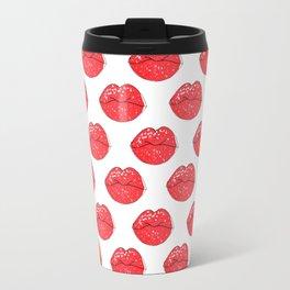 Lips pattern . Travel Mug
