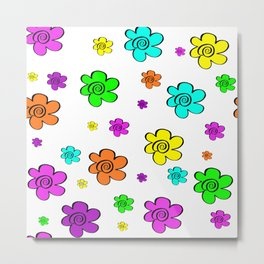 Colorful daisy flowers Metal Print