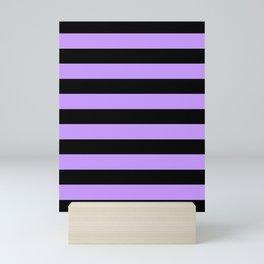 Mariniere marinière purple and black Mini Art Print