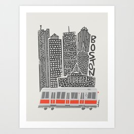 Boston City Illustration Art Print