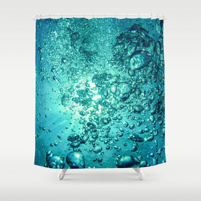 Thirsty Sprite Bubble Shower Curtain