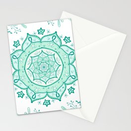Mandala Menthe à l'eau By Sonia H. Stationery Cards
