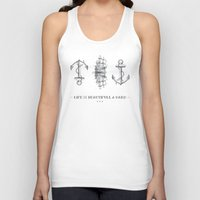 sailboat Tank Tops featuring Anchor & Sailboat by fjopus7
