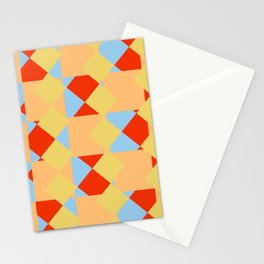 geometric retro colorful pattern Onmoraki Stationery Cards