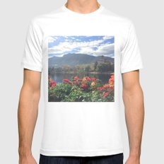 What a view White MEDIUM Mens Fitted Tee