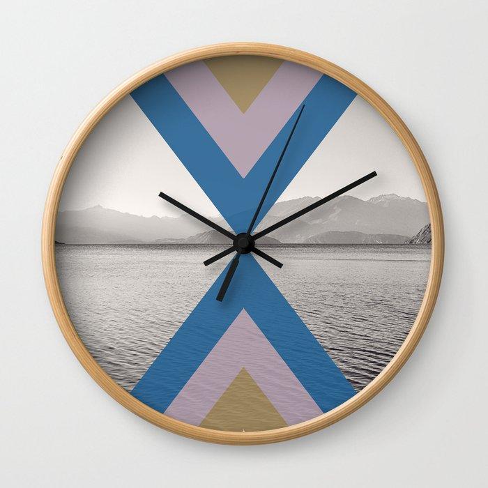 Boho Arrows of Lake Wanaka Wall Clock
