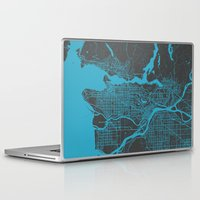 vancouver Laptop & iPad Skins featuring Vancouver Map by Map Map Maps