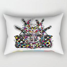 """Samurai 5. (Samurai mask """"E"""" big and 4 small masks) Rectangular Pillow"""