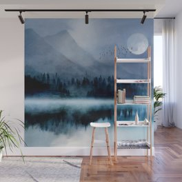 Mountainscape Under The Moonlight Wall Mural
