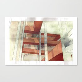 Architectural Fragment Perspective Canvas Print