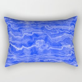 Egyptian Marble, Lapis Blue Rectangular Pillow