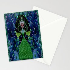 Lady Rabbit  Fantasy happy for her new dress Stationery Cards