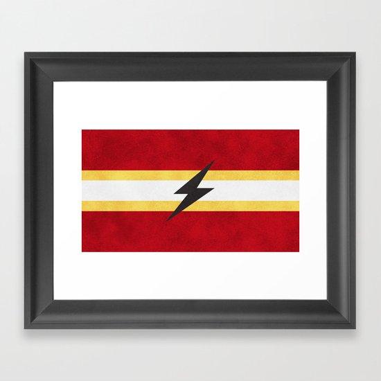 Flash of Color Framed Art Print