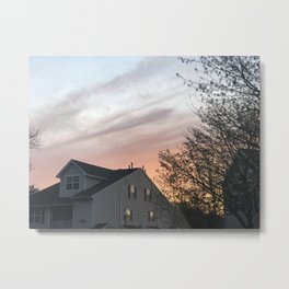 A Homey Sunset Metal Print