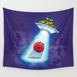UFO Spaghetti Dreams Wall Tapestry