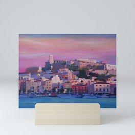 Ibiza Eivissa Old Town and Harbour Pearl of the Mediterranean Mini Art Print