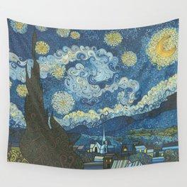 Swirly Night Wall Tapestry
