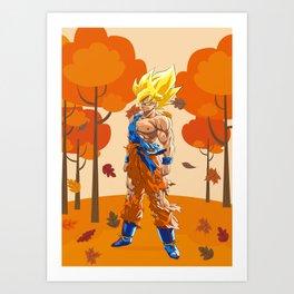 Dragon Ball goku vegeta Art Print