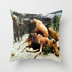 Grizzly Fight Throw Pillow