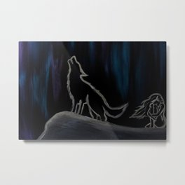 Crying with the Wolves Metal Print