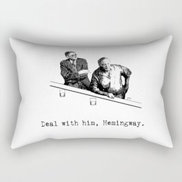 James Joyce x Ernest Hemingway - Drunken Shenanigans Painting Rectangular Pillow