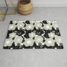 Mysterious Night - Flowers by SewMoni Rug
