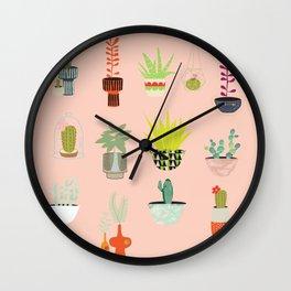 Palm Springs Plants Wall Clock