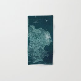 Map Of San Francisco 1857 Hand & Bath Towel