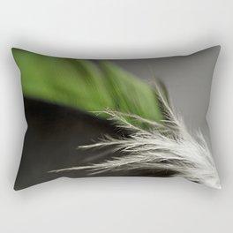 Green Feather Rectangular Pillow
