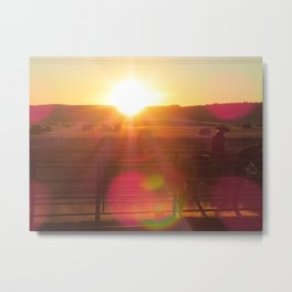 Wyoming Sun Spots Metal Print