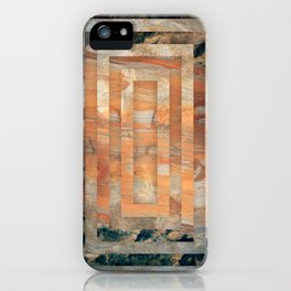 Cave abstraction iPhone Case