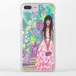 Tahani at the Annual Tropicana Charity Ball Clear iPhone Case