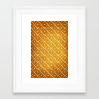 yellow pattern Framed Art Prints featuring Yellow Pattern by Thomas Bryant