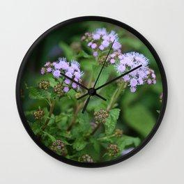September Wildflowers Wall Clock