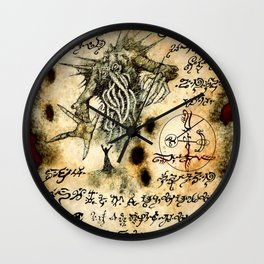 Cthulhu Rises Wall Clock