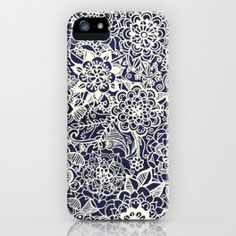 Lace on Nautical Navy Blue iPhone Case