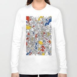 Berlin mondrian Long Sleeve T-shirt