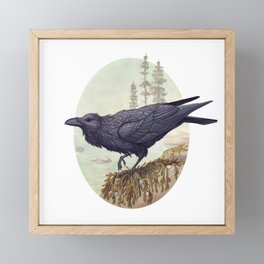 Raven of the North Atlantic Framed Mini Art Print