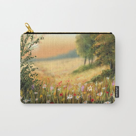 Country Flowers Carry-All Pouch