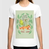 sayings T-shirts featuring Every Fox...fox, sayings, typography, quote, nature, leaves by Slumbermonkey Designs