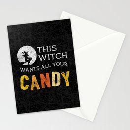 This Witch Wants All Your Candy Stationery Cards