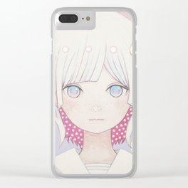 Silence egg-san Tamago fuyashitabaai Clear iPhone Case