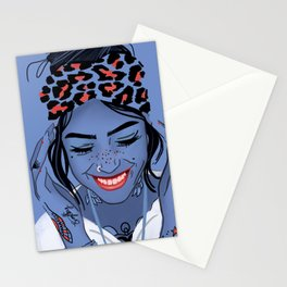 Minimal tattooed girl Stationery Cards