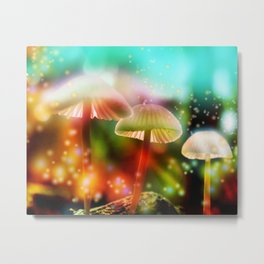 """Magical Mushrooms"" Metal Print"