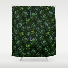 Frogs On Weed Shower Curtain
