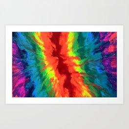 THE RAINBOW - Abstract Fluid Acrylic Painting Art Print